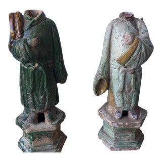 Headless Ming Dynasty Statues - A Pair