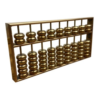 1970s Brass Abacus For Sale