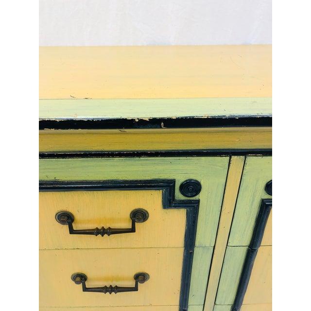 Vintage Painted Credenza Dresser For Sale - Image 11 of 12