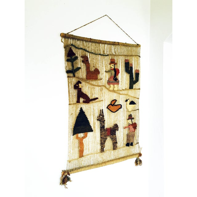 Vintage Peruvian Woven Wall Hanging - Image 3 of 6