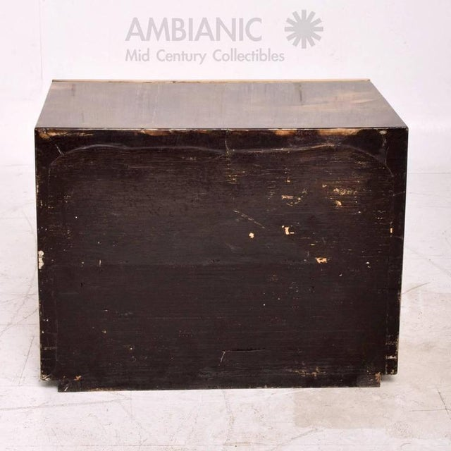 1960s Goatskin Bed Side Table For Sale - Image 5 of 8