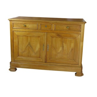 1850s French Large Louis Philippe Fruitwood Server / Buffet For Sale