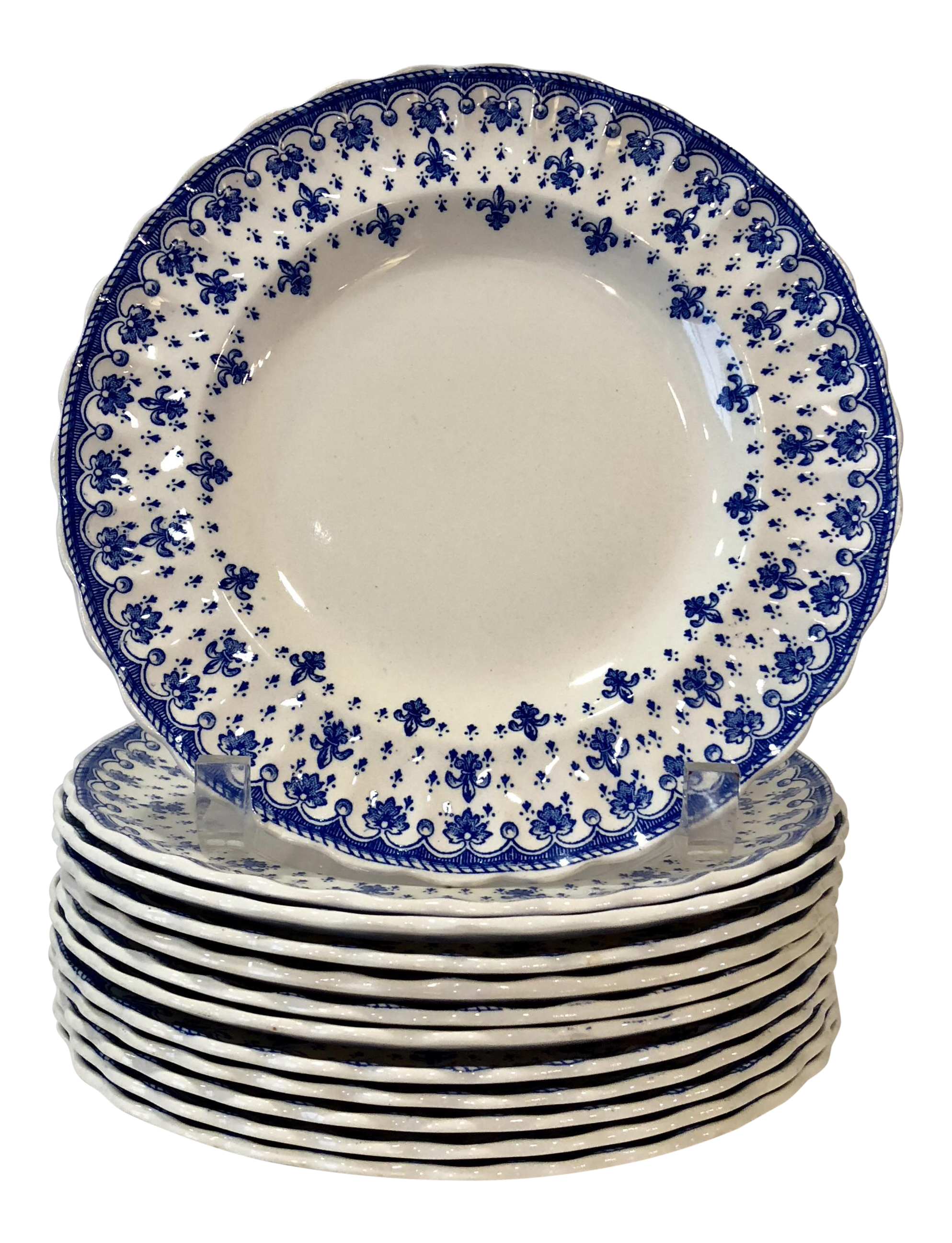 Spode Fleur-De-Lis Dessert Plates - Set of 12  sc 1 st  Chairish & Gently Used Spode Decor | Up to 50% off at Chairish