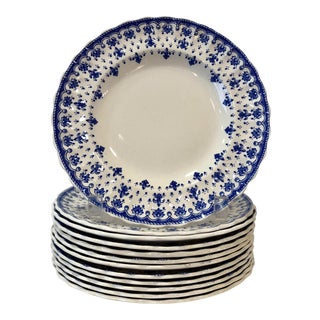 Spode Fleur-De-Lis Dessert Plates - Set of 12