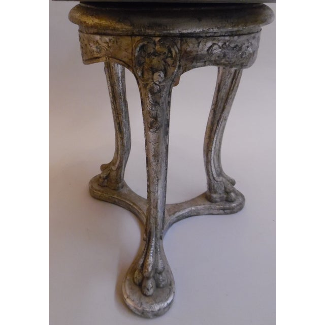 19th Century Italian Silver and Gold Gilt Cherrywood Grotto Seat For Sale In Chicago - Image 6 of 13