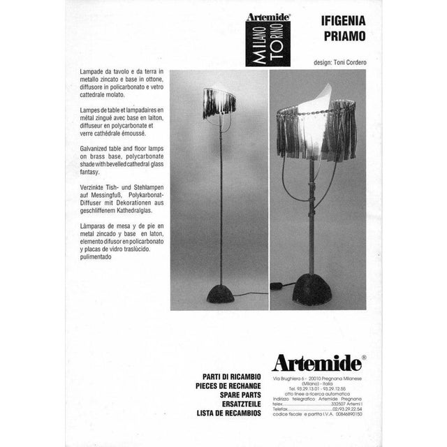 """""""Priamo"""" Floor Lamp by Toni Cordero for Artemide, Italy, 1990 For Sale - Image 12 of 13"""