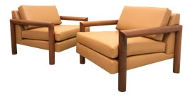 Image of Cowhide Club Chairs