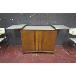 Vintage Mid Century Modern Walnut Bar Cabinet Preview