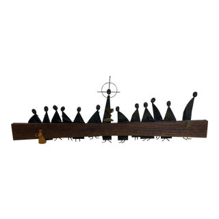 "Mid Century Modern Emaus ""Last Supper"" Sculpture For Sale"