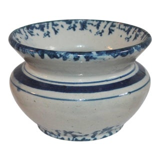 19th Century Sponge Ware Spittoon For Sale