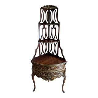 1930's French Louis XV Corner Étagère For Sale