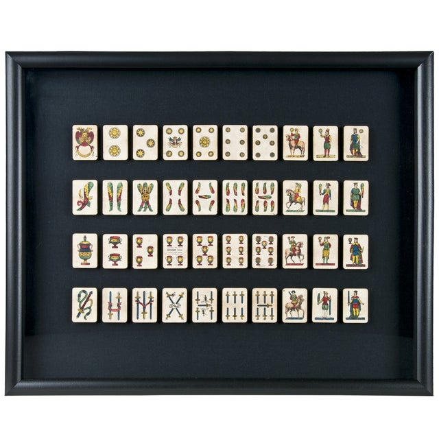 40 Framed A. Viassone Italian Playing Cards - Image 1 of 5