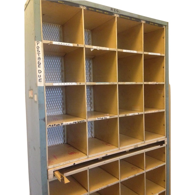 Vintage Industrial Post Office Sorting Cubby For Sale - Image 5 of 6