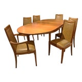 Image of 1960s Mid-Century Modern Dining Table & Chairs - 7 Pieces For Sale