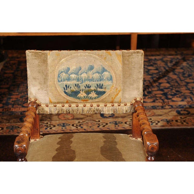 French French Walnut Armchair, circa 1720 For Sale - Image 3 of 7