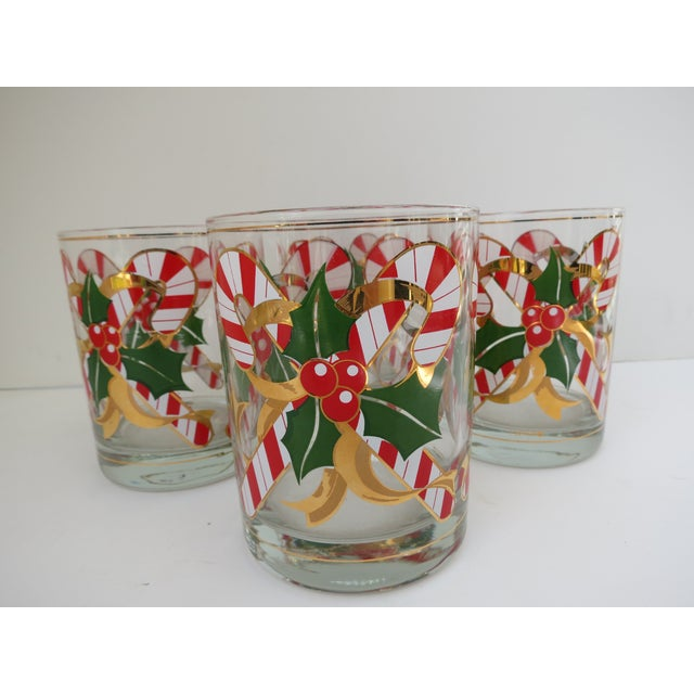 Culver Candy Cane Glasses - S/4 - Image 2 of 6