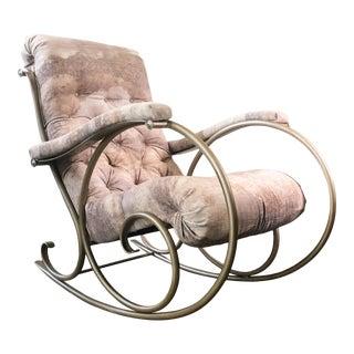 1970s Vintage Tubular Rocking Chair For Sale