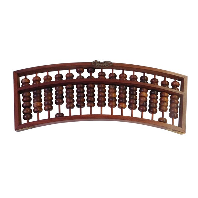 Fan Shaped Abacus Fengshui Wall Hanging For Sale - Image 4 of 6