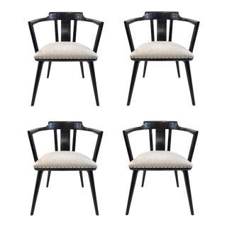 Universal Co. Modern Dalton Barrel Back Chairs Set of Four For Sale