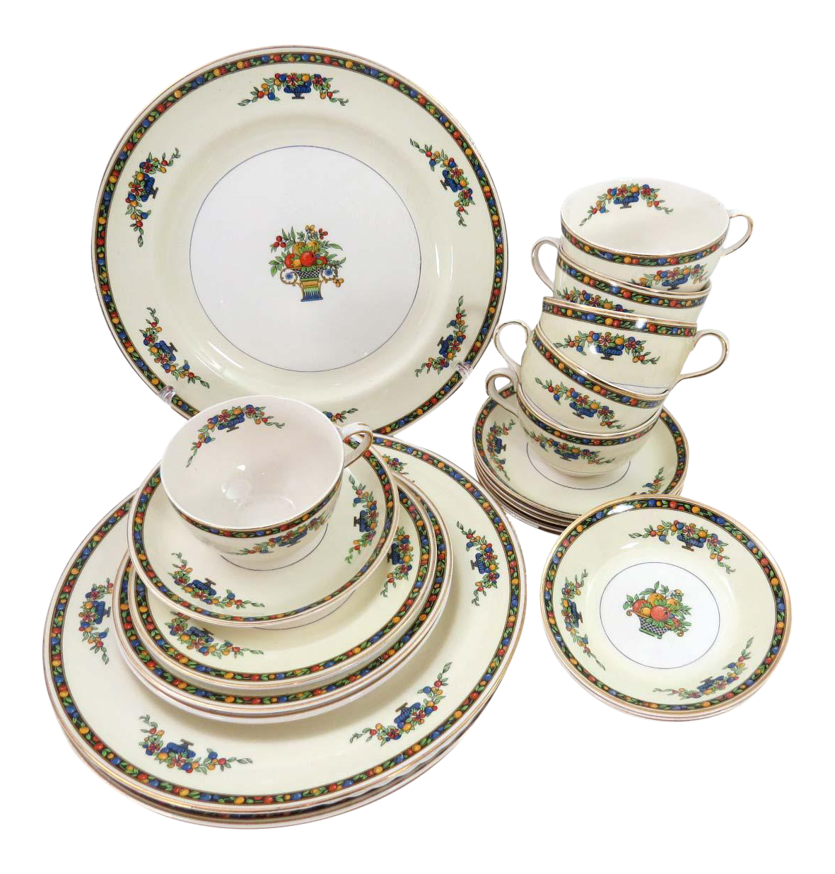Vintage Johnson Brothers Pareek Minorca Dinnerware - Set of 24  sc 1 st  Chairish : johnson brothers dinnerware sets - pezcame.com