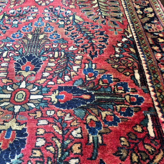 1920s Hand-Knotted Runner - 2′ × 6′ - Image 10 of 11
