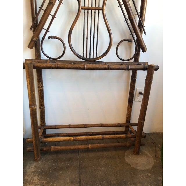 Antique English Bamboo Hall Stand For Sale In Los Angeles - Image 6 of 11
