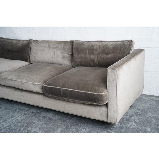 Harvey Probber Harvey Probber Green Down Sofa For Sale - Image 4 of 5