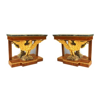 1900s English Regency Style Console Tables - a Pair For Sale