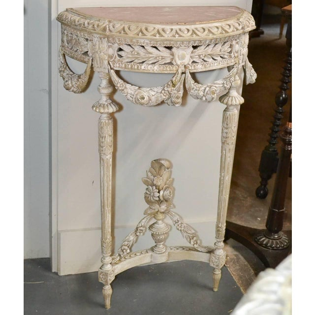 Marble 19th Century Pair of French Louis XVI Consoles For Sale - Image 7 of 11