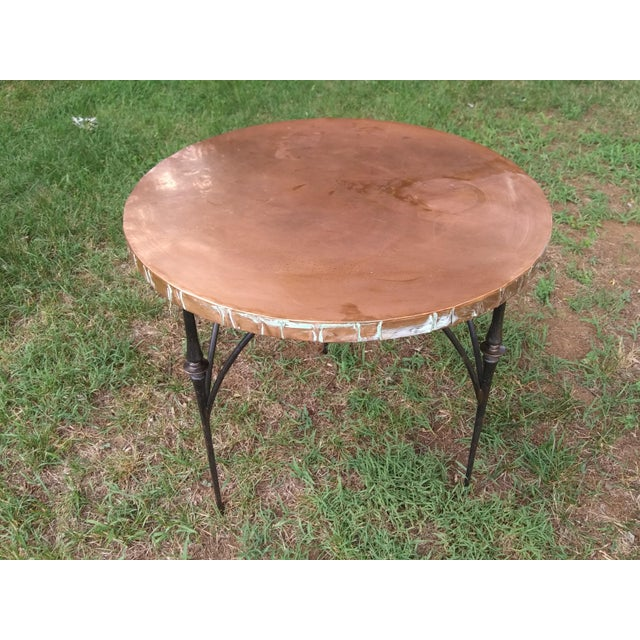 Bronze Modern Brutalist Style Copper Top Dining/Entry Table For Sale - Image 8 of 8