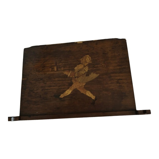 Antique Inlaid Wood Board For Sale