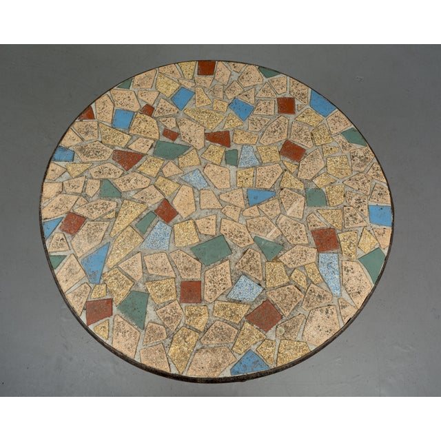French Faux Bois Mosaic Tile Table For Sale - Image 10 of 11