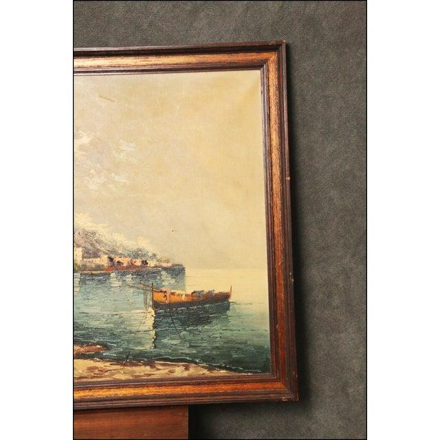 Vintage Impressionist Oil Painting of European Seascape - Image 4 of 11