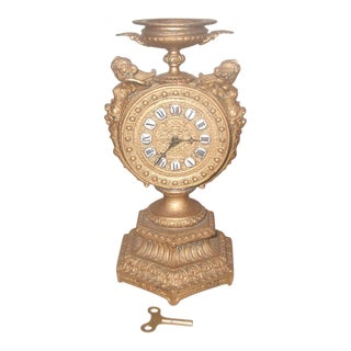 1890-1900 Mayer 8 Day Cherub Gilt Clock
