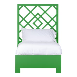 Darien Bed Twin Extra Long - Bright Green For Sale