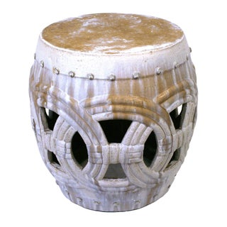 Large Rope Design Ceramic Garden Stool For Sale