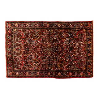 Early 20th Century Pure Wool Hand Knotted Persian Area Rug . For Sale