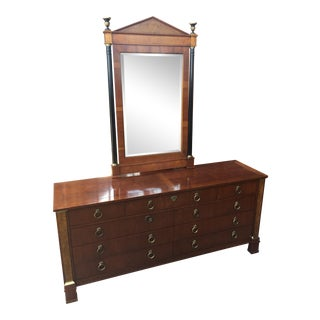Baker Furniture Palladian Dresser With Mirror
