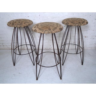 Set of Vintage Modern Iron Stools Preview