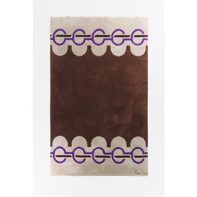 1960s 1960's Vintage Wool Rug by Pierre Cardin-6'9'x10'10' For Sale - Image 5 of 5