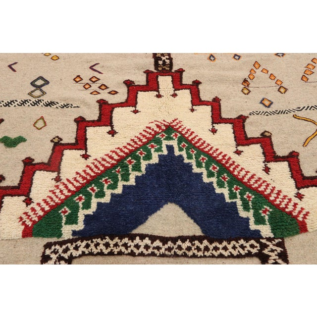 Berber Tribes of Morocco Vintage Berber Moroccan Flat-Weave Kilim Glaoui Rug - 12'10 X 17'08 For Sale - Image 4 of 9