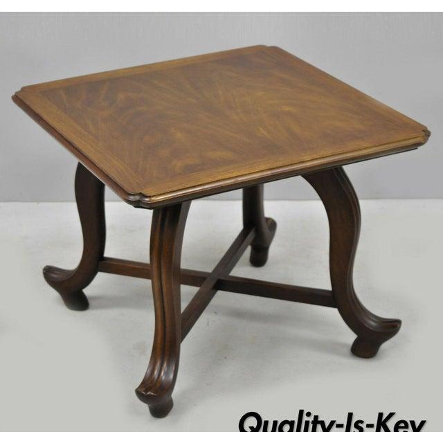 20th Century Hollywood Regency John Widdicomb Walnut Low Side Table For Sale - Image 11 of 11