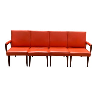Vintage Mid-Century Danish Modern Modular Seating - Set of Four For Sale