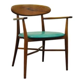 Vintage Mid Century Modern Winchendon Walnut Dining Arm Chair Paul McCobb Danish