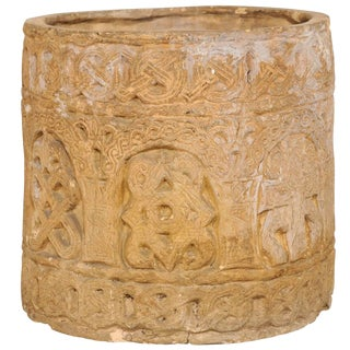 Early to Mid-20th Century English Celtic Motif Clay Pot For Sale