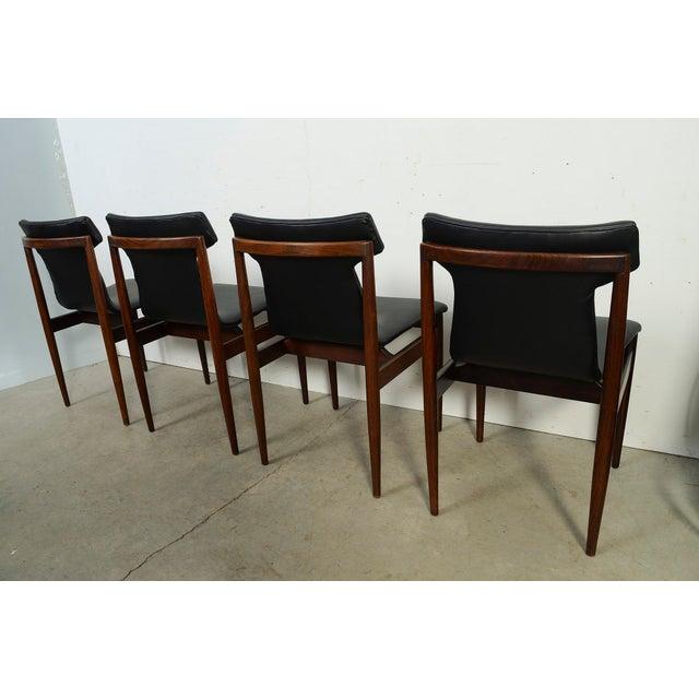 Wood 1960s Vintage Klingenberg for Fristho Danish Modern Rosewood Dining Chairs- Set of 4 For Sale - Image 7 of 10