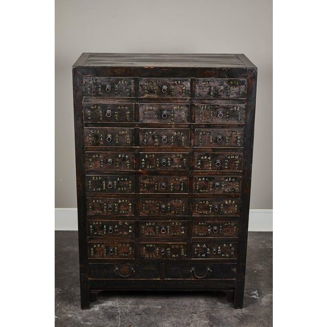 Asian 19th Century Chinese Apothecary Cabinet With Drawers For Sale - Image 3 of 9