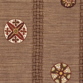 Boho Chic Jed Johnson Medallion Linen Designer Fabric by the Yard For Sale