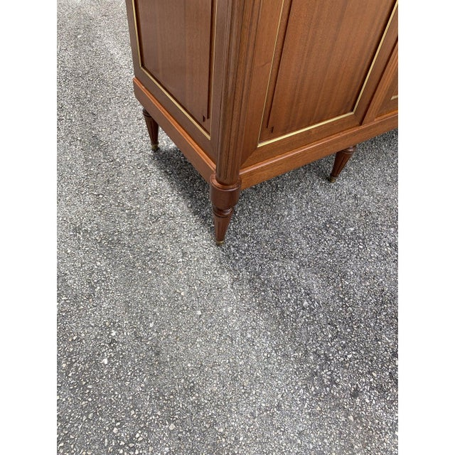 1910s French Louis XVI Antique Mahogany Armoire For Sale In Miami - Image 6 of 13
