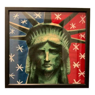 "1960s ""Liberty Head"" Pop Art Style Silkscreen by Steve Kaufman, Framed For Sale"